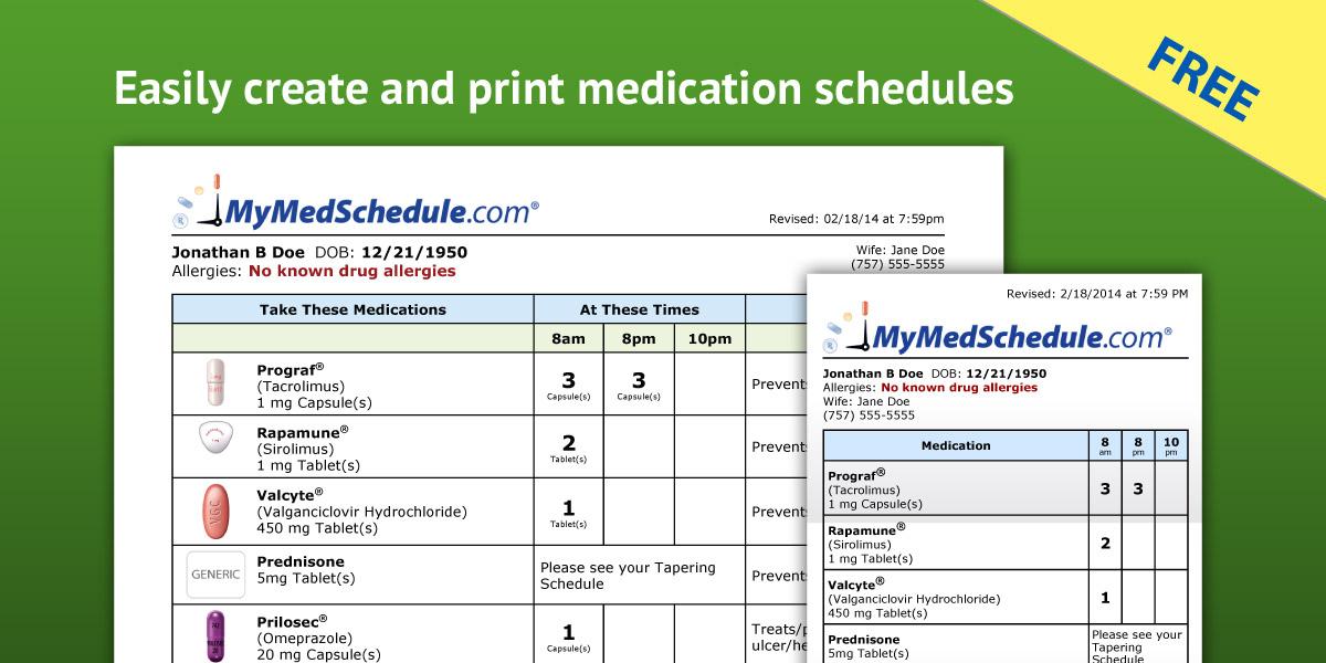 Doe 2014-2019 Calendar Need Help Organizing Your Medication List? | SyneRxgy Consulting, LLC.